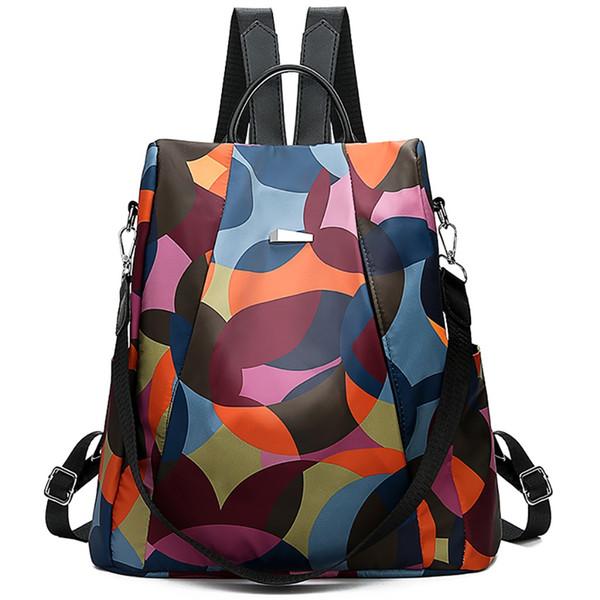 Fashion Women Simple Trend Oxford Student Bag Female Soft Zipper Wearable Versatile Backpacks Travel Bag#YL #298295