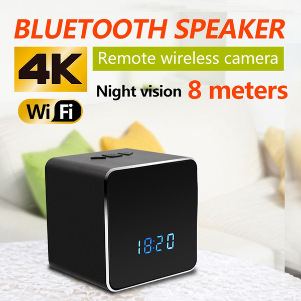 Bluetooth Speaker Micro Camera 4K Wifi HD 1080P Video Recorder Wireless Stereo Speaker MINI DV DVR support IR night vision Motion Detection