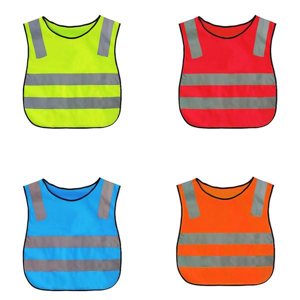 Çocuklar Yüksek Görünürlük Woking Güvenlik Yelek Yol Trafik Çalışma Yelek Yeşil Yansıtıcı Güvenlik Giyim Çocuk Güvenliği Için Yelek Ceket 30 ADET B11