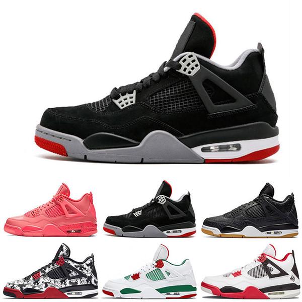 4 Raptors Tattoo Herren Basketball-Schuhe Travis 4 Kaktus Jack Pure Money Pizzeria Schwarze Katzengummi Männer Turnschuhe