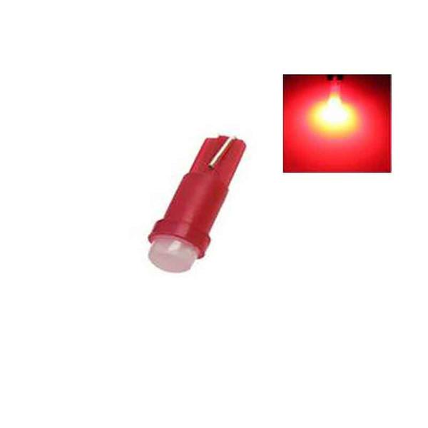 10PCS/LOT W1.2W Socket T5 LED 12V Car Auto Side Wedge Gauge Dashboard Gauge Instrument Light Lamp Bulb Red Green Yellow