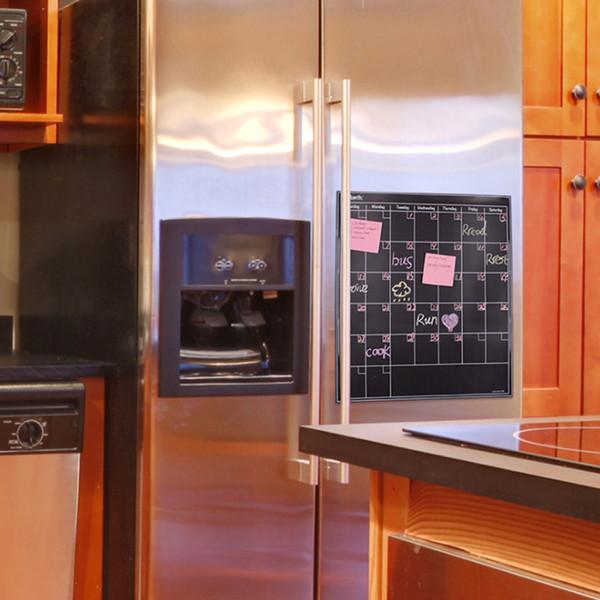 Magnétique Réfrigérateur Calendrier Autocollants Ardoise Murale Amovible Tableau Tableau Effaçable À Sec Mois Mois Tableau Noir Aimants