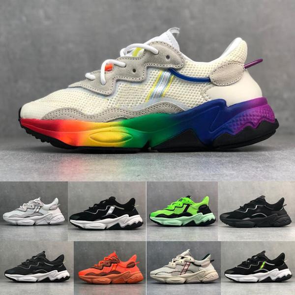 2019 OZWEEGO PRIDE Rainbow Running Shoes para Mulheres Mens Designer Tênis Esportivos Splicing Esportivos des Chaussures Schuhe Zapatos
