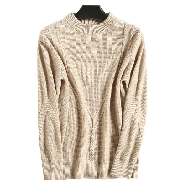 Maglione semirigido in cachemire Femminile Breve sciolto a maglia spessa Maglione pigro Maglione di lana sottile Donna 2019 Maglioni a trecce
