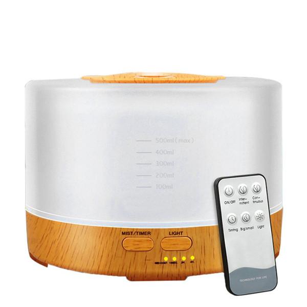 700мл Аромат эфирного масла Диффузор Ультразвуковой увлажнитель воздуха волокна древесины очиститель воздуха с 7 цветов Изменение светодиодные