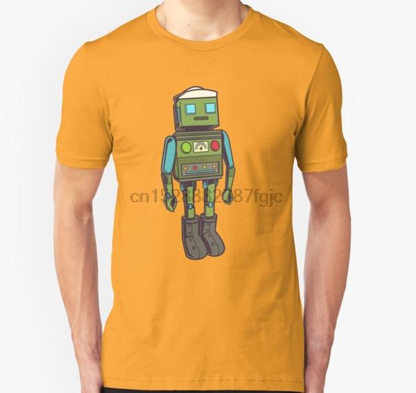 Uomini maglietta maniche corte sveglia dell'annata del marinaio di stile Robot unisex T Shirt Donne tshirt