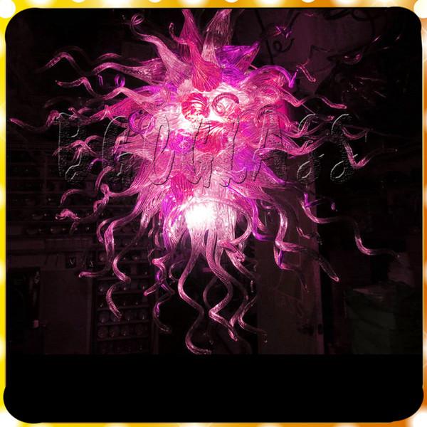 Acheter Jolie Maison Rouge Décoration Éclairage 100% Verre Soufflé Lustres  LED D\'éclairage Dale Chihuly Styled En Verre De Murano Lustres De $1427.14  ...