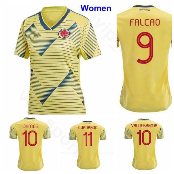 Women Colombia 19-20 Soccer Lady Ospina Jersey Montoya Caro Arias Caracas Velasquez Santos Castaneda Andrade Football Shirt Kits Uniform