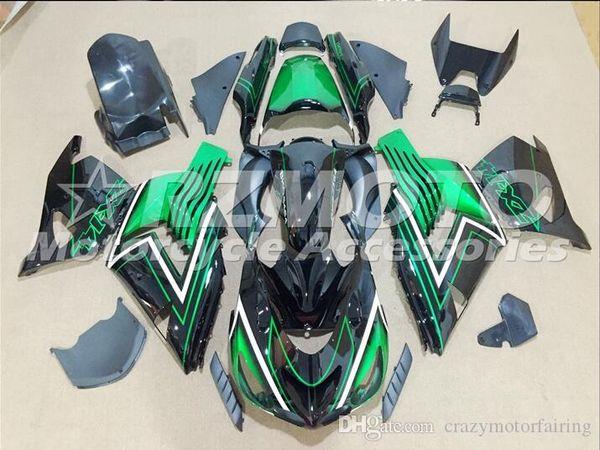 3 Cadeaux gratuits Nouvel ABS Carénage Kits 100% Fitment Pour Kawasaki Ninja ZX14R 2006 2009 2011 10R 06 07 08 09 10 06-11 Vert Noir V4