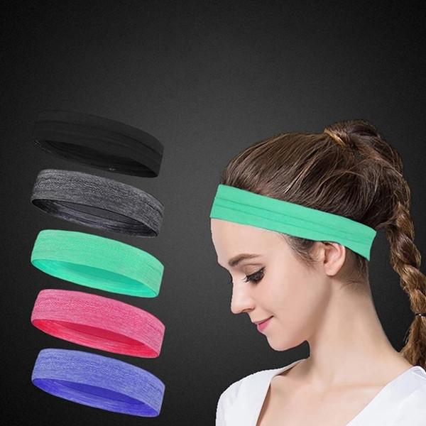 6 Colors Solid Cotton Headband Sports Softball Sweatband Hair Band Bandage On Head Turban Bandana Elastic #72000