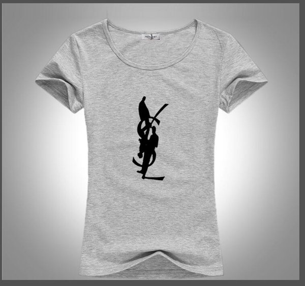 2019 европейские и американские популярные высокого класса дамы футболка мода печать 100% хлопок с воротником с коротким рукавом простые модные моменты тем