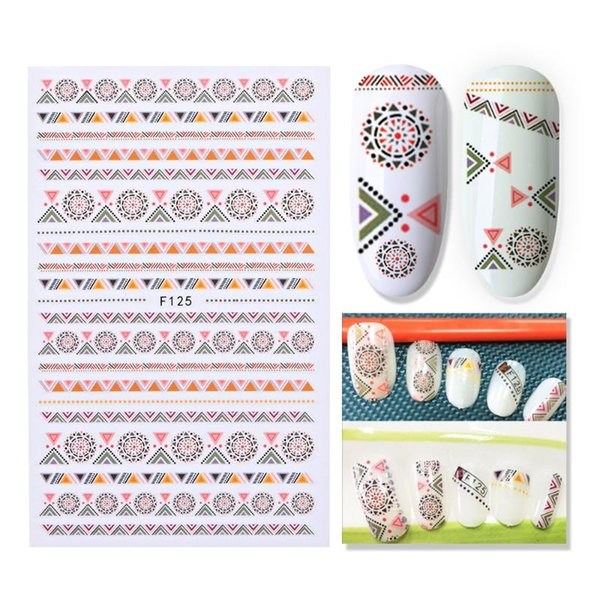 Valentine New Arrival 1 PC Rétro ongles autocollants Valentine Romance Lettre de transfert d'eau Decal Stickers Nail Art Décor