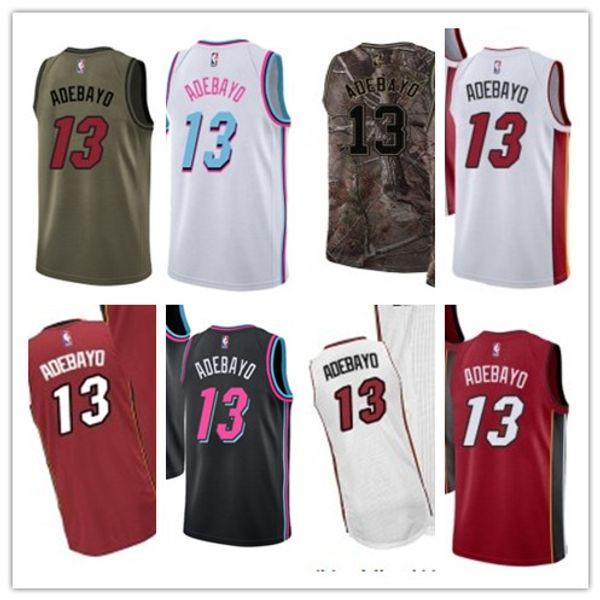 2019 Edrice de Kemba 13 Adebayo New Heat de Miami pour le magasin Fan Edition Hommes Femmes Enfants Broderie Basketball Jersey
