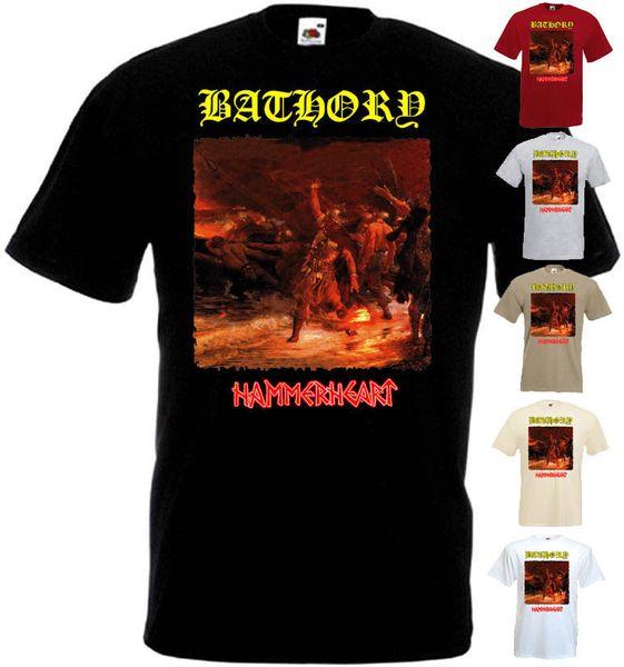 Bathory Hammerheart футболка черный металл мусор все размеры S-5XL смешно бесплатная доставка мужская повседневная футболка
