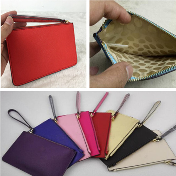 Women KS PU Leather Wallet with Lanyard Wristlet Zipper Purse Clutch Bag Outdoor Travel Credit Card Money Cosmetics Bags Handbag Valentine