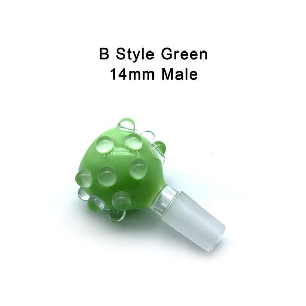 B- 14mm Male Green