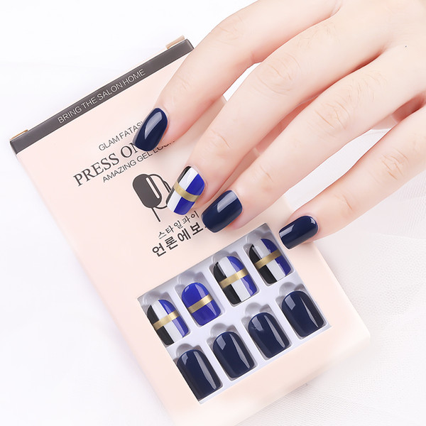 top popular False Nail Artificial Tips 30pcs Reusable Glitter Full Cover for Decorated Design Press On Nails Art Fake Extension Tips 2021