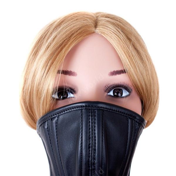 Maske, Maske, Kragen, heißer Verkauf, weiches PU-Leder, sexuelle Bindung, Zurückhaltung, Audi, Spiel, Sexspielzeug für Paare