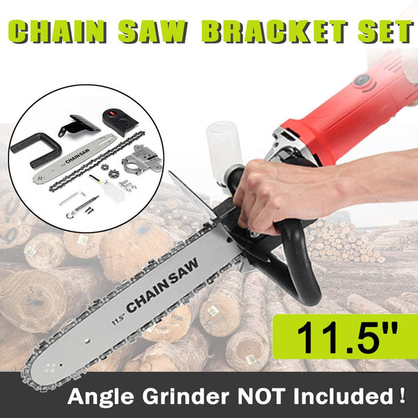 best selling Upgrade Electric Saw Parts 11.5 Inch M10 M14 M16 Chainsaw Bracket Changed 100 125 150 Angle Grinder Into Chain Saw