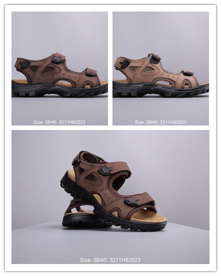 High quality mens leather sandals of Summer mens shoes with box dust cheap this time mens sandals adult size 38-44