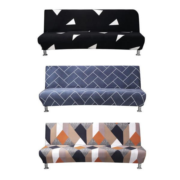 Wondrous 2019 Stretch Sofa Bed Cover Full Folding Armless Elastic Futon Slipcover Home Textile Accessories Couch Cover Sofa Recliner Covers Slipcovers For Spiritservingveterans Wood Chair Design Ideas Spiritservingveteransorg