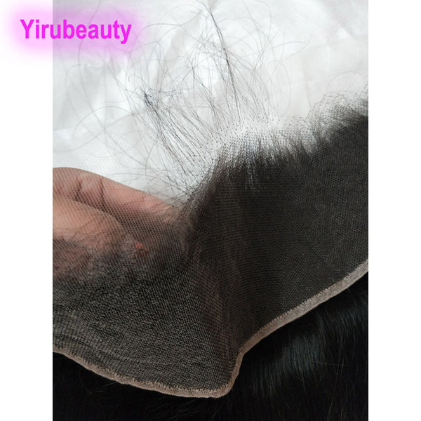 Indian Virgin Hair Lace Frontal 13X4 HD Straight Remy Hair HD 13 By 4 Lace Frontal Closures Color natural Yirubeauty