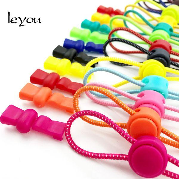 leyou 100cm New Elastic No Tie Shoelaces Running/Jogging/Sport Quick Lock Shoelaces Shoe Strings Lazy Shoe Laces Colored
