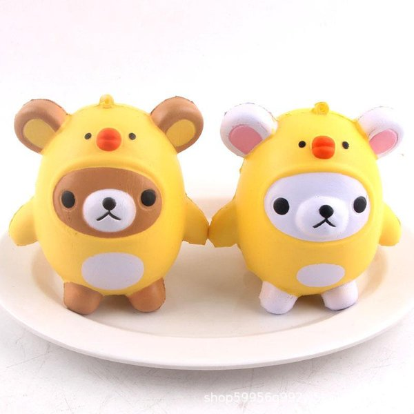 Squishy Toys panda chicken egg Kawaii Animal Slow Rising Jumbo Squeeze Phone Charms Stress Reliever Kids Gift squishies