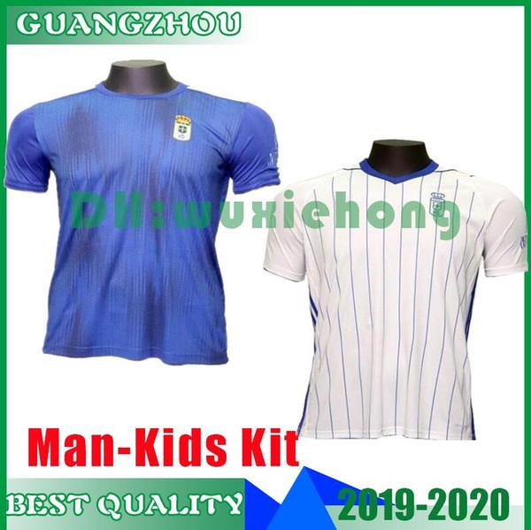 2019 Real Oviedo IBRA thailand 19 20 soccer jerseys 2020 R. FOLCH Y. BÁRCENAS JOHANNESSON MOSSA JAVI MUÑOZ Men football shirt kids kits