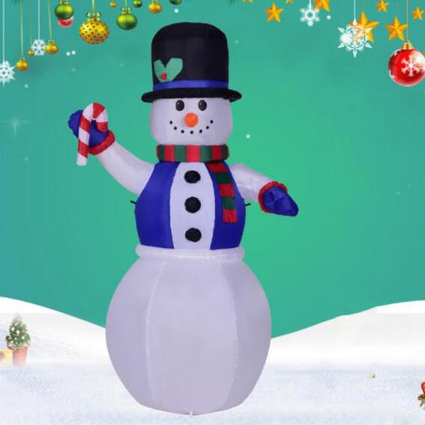 1.8M gonflable Waving Bonhomme de neige à la main pour la décoration de Noël mignon Noël gonflable super divertissement Marché vacances du Nouvel An