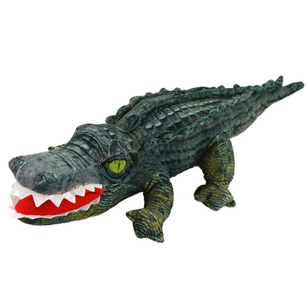 wholesale Free Dropshipping 60cm Crocodile Stuffed Animal Realistic Plush Alligator Soft Toy Cuddly Gift for Kids Boy