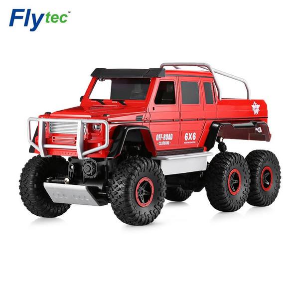 Flytec 1/10 Função Completa Simulação 6-off-road Alpinista RC Brinquedos Do Carro Vermelho / Preto 4WD Off-road Drift Poderosa 699-119 Para O Menino Crianças VB