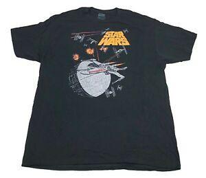 Shirt T all'ingrosso Deathstar Tie Fighter X Ala Battaglia Spaziale Uomini 039 s 2XL