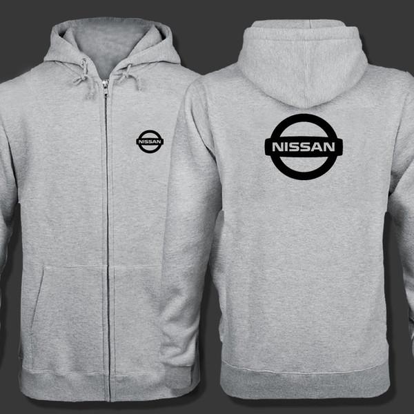 Nissan logo fermuar Kapüşonlu Sweatshirt Kış Tişörtü Fermuar Ceket Pamuk Ceket Moda Hoodie