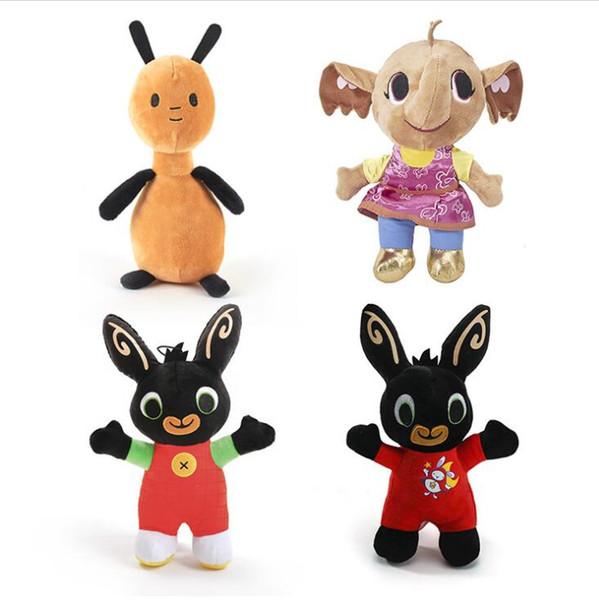 25CM Bing Lapin en peluche Pendentif clip Trousseau Bing lapin jouet poupée éléphant peluche animaux Cadeaux de Noël