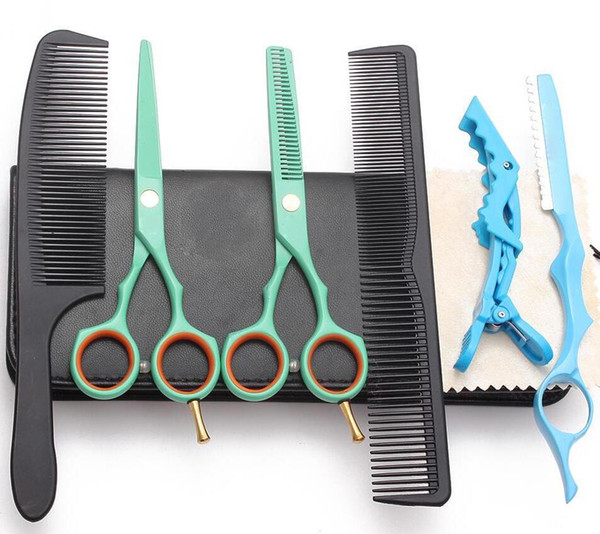 best selling Professional Hair Scissors set Hair Cutting Scissor Hairdressing Scissors Kit Straight Thinning Barber Salon Tools