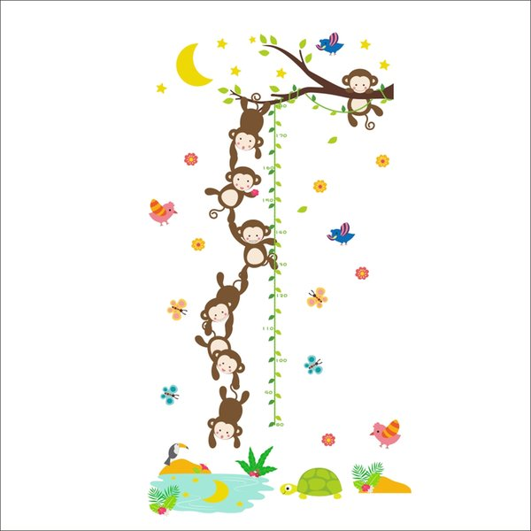 Wall Stickers Home Wall Decor Cartoon Monkeys Sticker for Kids Room Bedroom Decoration DIY Poster Mural Wallpaper Wall Decals