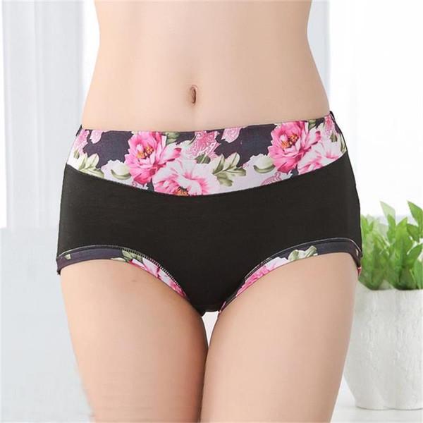New Floral Women's Panties Shorts Printing Breifs Sexy Lingeries Female Underpants Cotton Underwear For Women C19040401