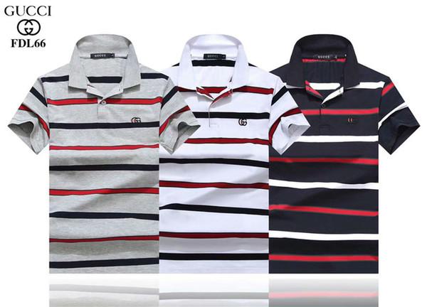 Neue Mode gestreifte Nähte POLO T-Shirt Hip-Hop-Männer T-Shirt Modemarke Männer kurzärmeliges großes T-Shirt