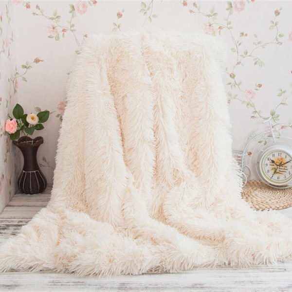 Winter Warm Plush Sofa Bed Knee Blanket Soft Cozy Fuzzy Fur Faux Couch Long  Shaggy Throw Blanket Large Throws For Beds Teal Blankets And Throws From ...