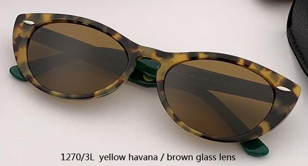 1270 / 3L الأصفر هافانا / عدسة براون