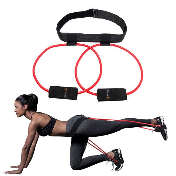 Fasce di resistenza antivibrazioni Sistema Pedale ginnico Fitness Gomma cintura-Lift Donna Glute Muscoli corpo inferiore Forma Fitness Esercizio