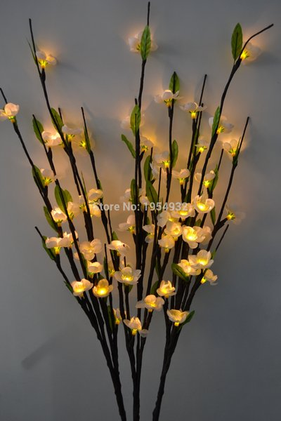 blossom Free Shipping Blossom Plum light 39' with 60 Plus green leaf decoration LED Cherry Plum Branch Light 7 Colors
