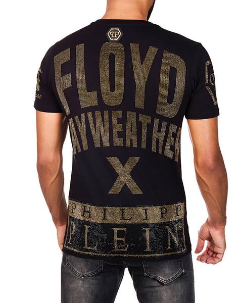 Las nuevas camisetas de invierno Hip Hop FLOYO para hombre camiseta de manga corta 100% algodón Mayweather Skull hip hop diseñadores para hombre camisetas