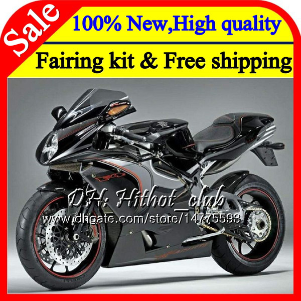 Body For MV Agusta F4 05 06 R312 750S 1000 R 750 1000CC Black silver 13HT10 1000R 312 1078 1+1 MA MV F4 2005 2006 05 06 Fairing Bodywork