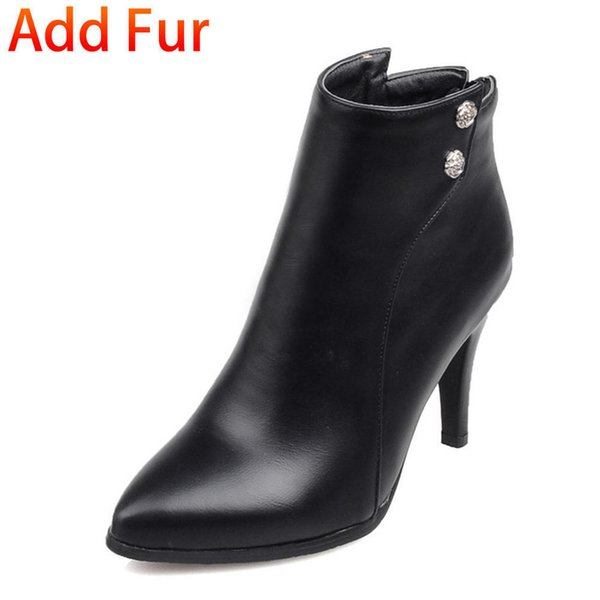 black with fur