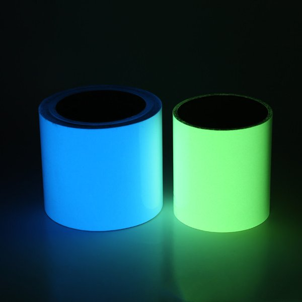Nastro luminoso super luminoso a colori per musica Striscia luminosa auto-illuminante Nastro per spia luminosa da palcoscenico Nastro per accumulo di luce fluorescente 25mmx5m