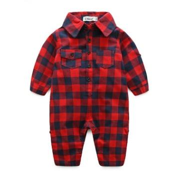 #1 Plaid Toddler Boys Jumpsuits