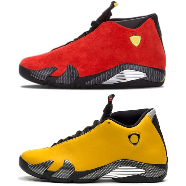 14s Men Basketball Shoes 14 Black White Yellow Red Suede Candy Cane Desert Sand The Last Shot DMP Mens Trainer Athletic Sport Sneaker