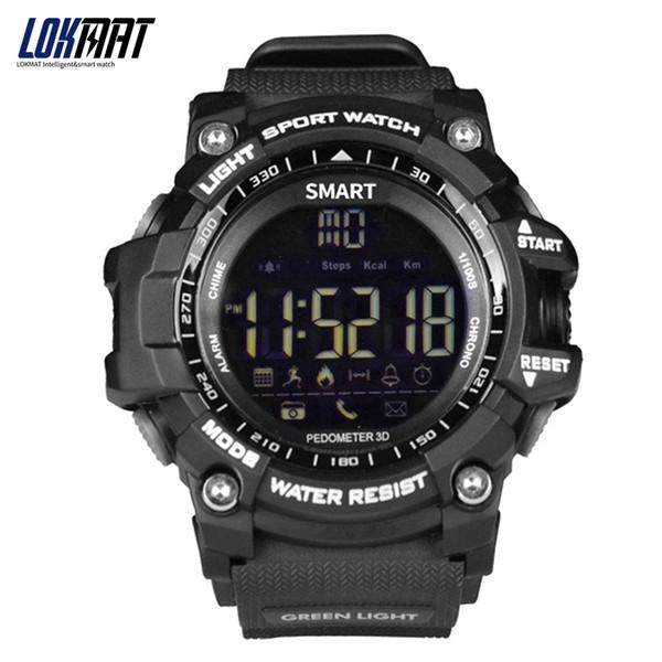 Bluetooth Smart horloge Sport Stappenteller waterdicht IP67 Sport digitale smartwatch Relogio Masculino Voor ios Android Telefoon